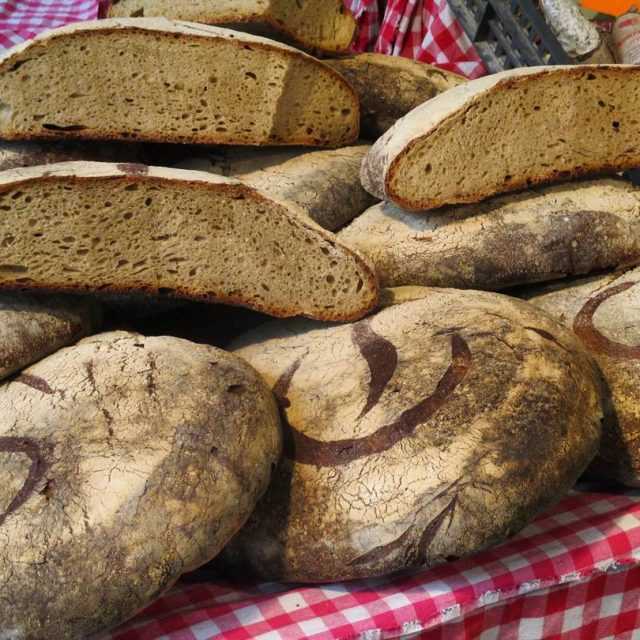 Poline bread on one of the street market in Paris!hellip